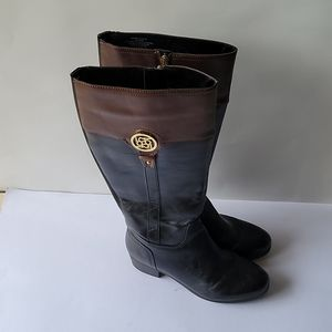 LIZ CLAIRBONE boots size 8W black and brown